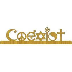 Coexist - FREE scroll saw pattern