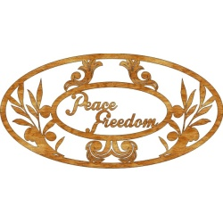 Peace and Freedom - FREE scroll saw pattern